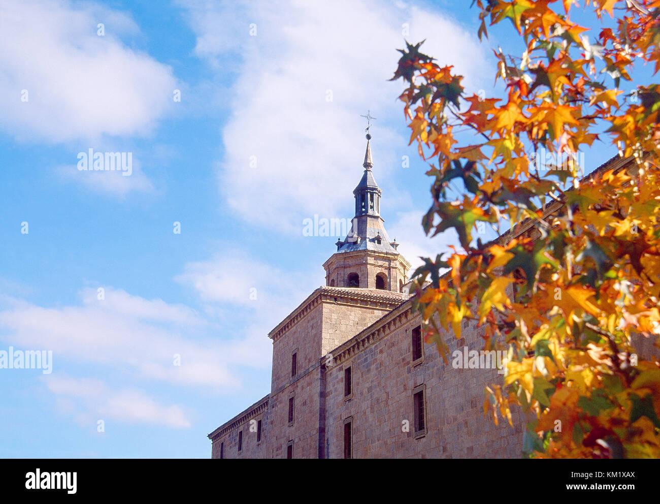 Facade of Yuso monastery. San Millan de la Cogolla, La Rioja, Spain. - Stock Image