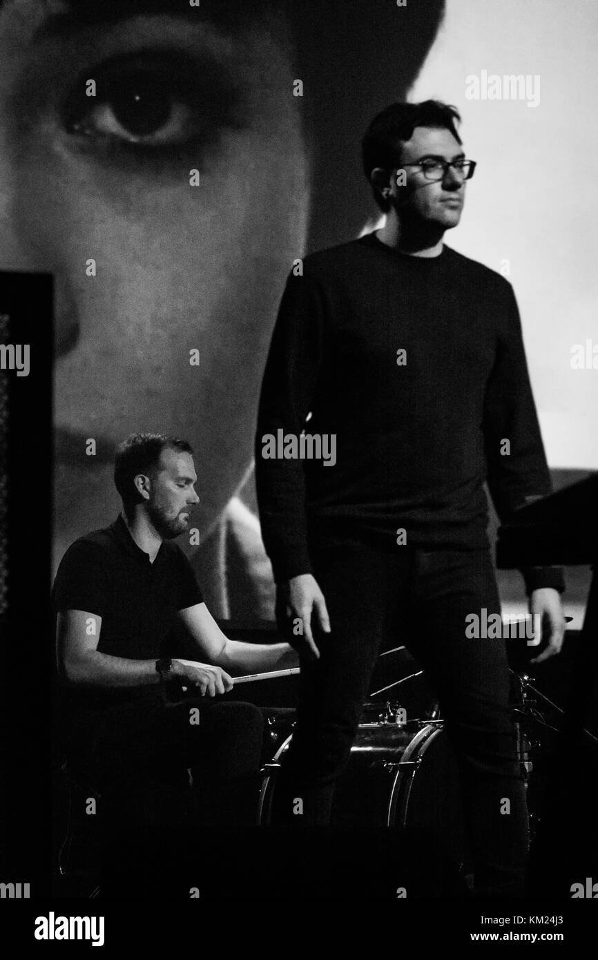 Milan, Italy. 1st December, 2017. Phillip Tubbs and Jacob Tomsky (Cigarettes after Sex) play keyboards and drums Stock Photo