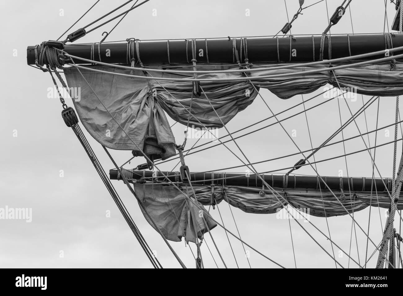 Tall Ship El Galeon Andalusia in Halifax, Nova Scotia, Canada. - Stock Image