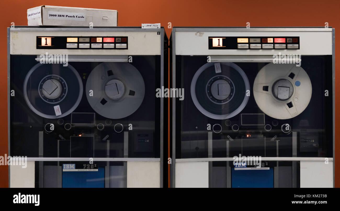 Vintage IBM 1401 computer mainframe system - Stock Image