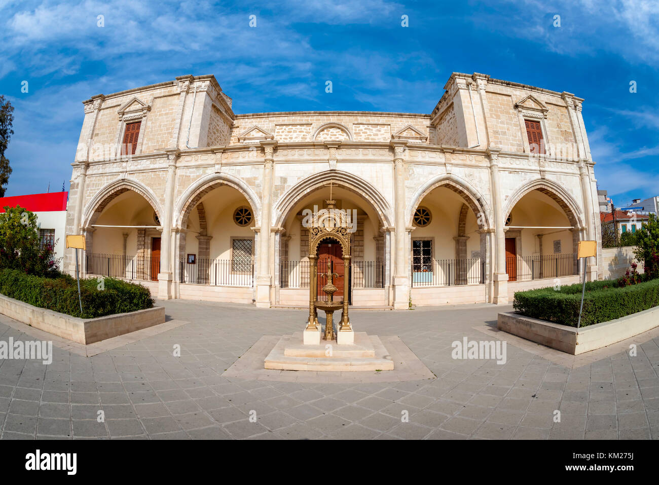 The Convent of Sisters of St. Joseph of the Apparition. Larnaca, Cyprus. - Stock Image