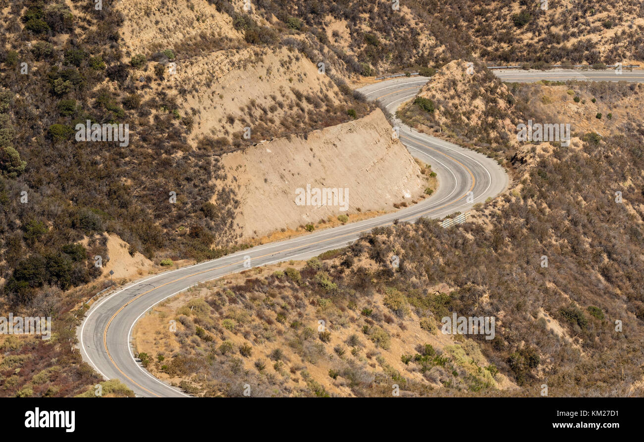 Abandoned section of Templin Highway, Los Angeles County, California, USA.  Used for filming the Fast and the Furious - Stock Image