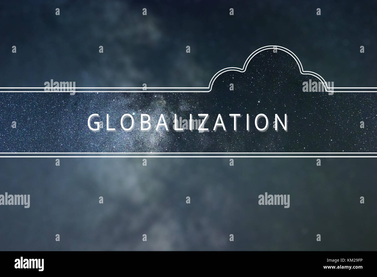 GLOBALIZATION word cloud Concept. Space background. - Stock Image