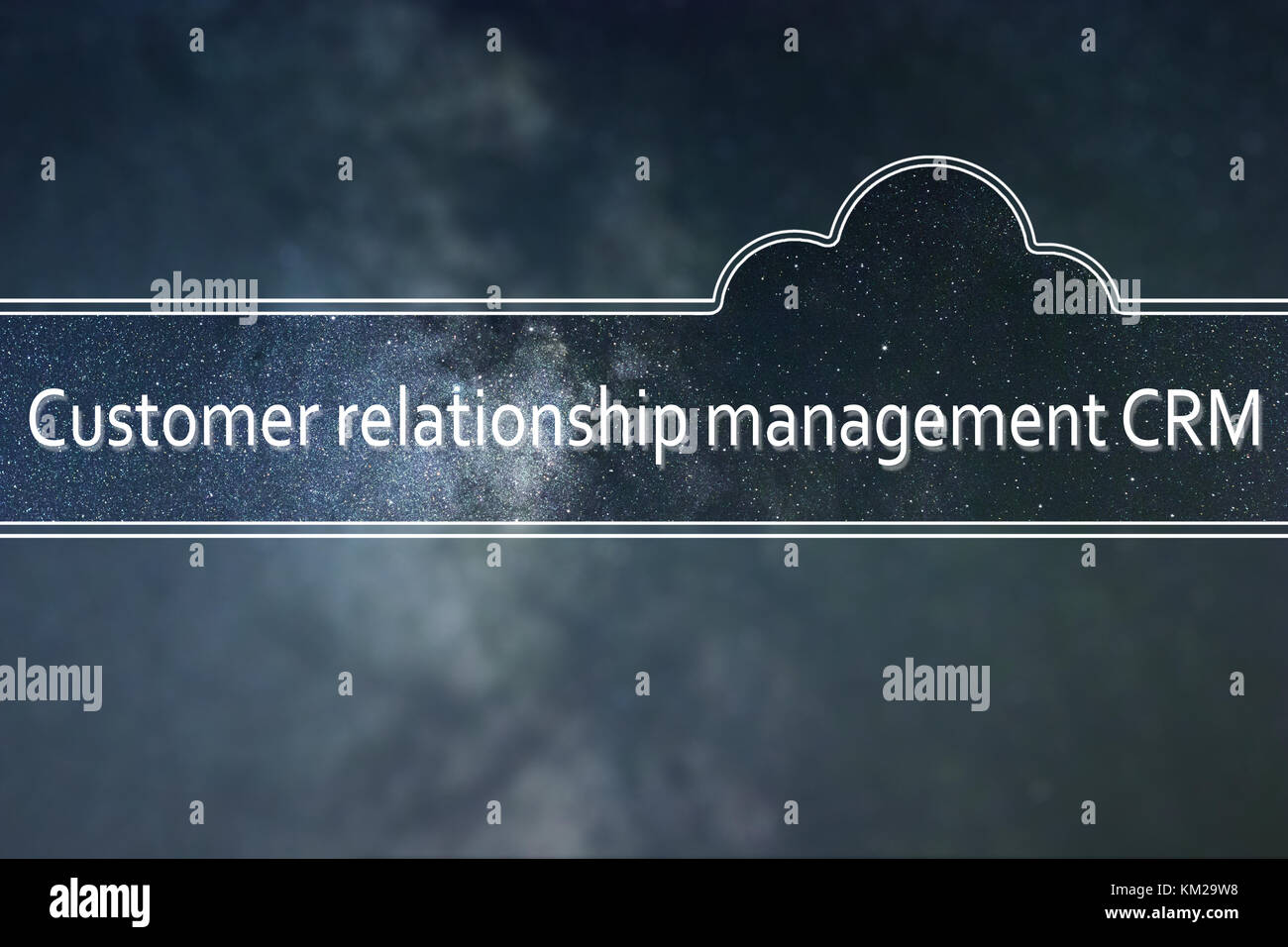 Customer relationship management CRM word cloud Concept. Space background. - Stock Image