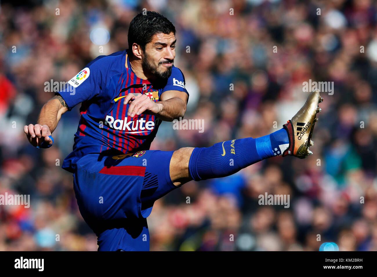 Barcelona, Spain. Credit: D. 2nd Dec, 2017. Luis Suarez (Barcelona) Football/Soccer : Spanish Primera Division 'Liga - Stock Image