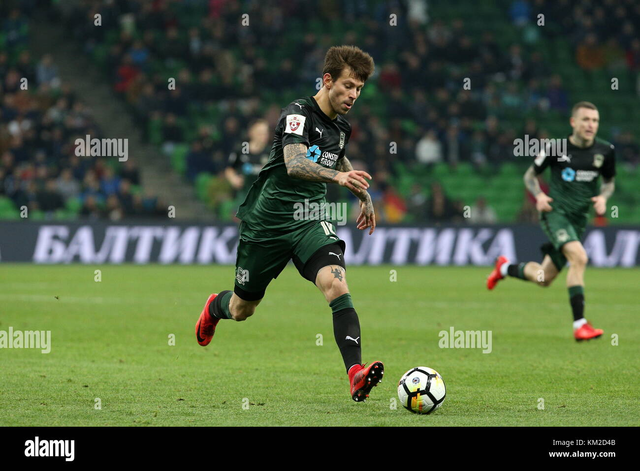 Krasnodar Russia December 3 2017 Fc Krasnodar S Fyodor Smolov In Stock Photo Alamy