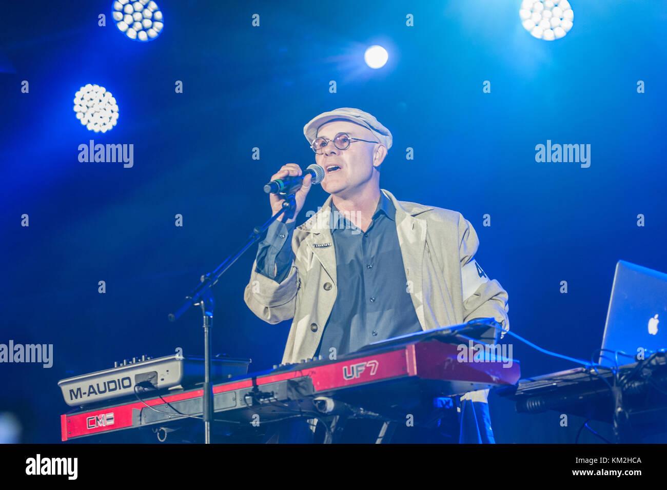Bognor Regis, UK. 3rd Dec, 2017. Thomas Dolby closes Electric Dreams Festival. Credit: Ken Harrison/Alamy Live News - Stock Image