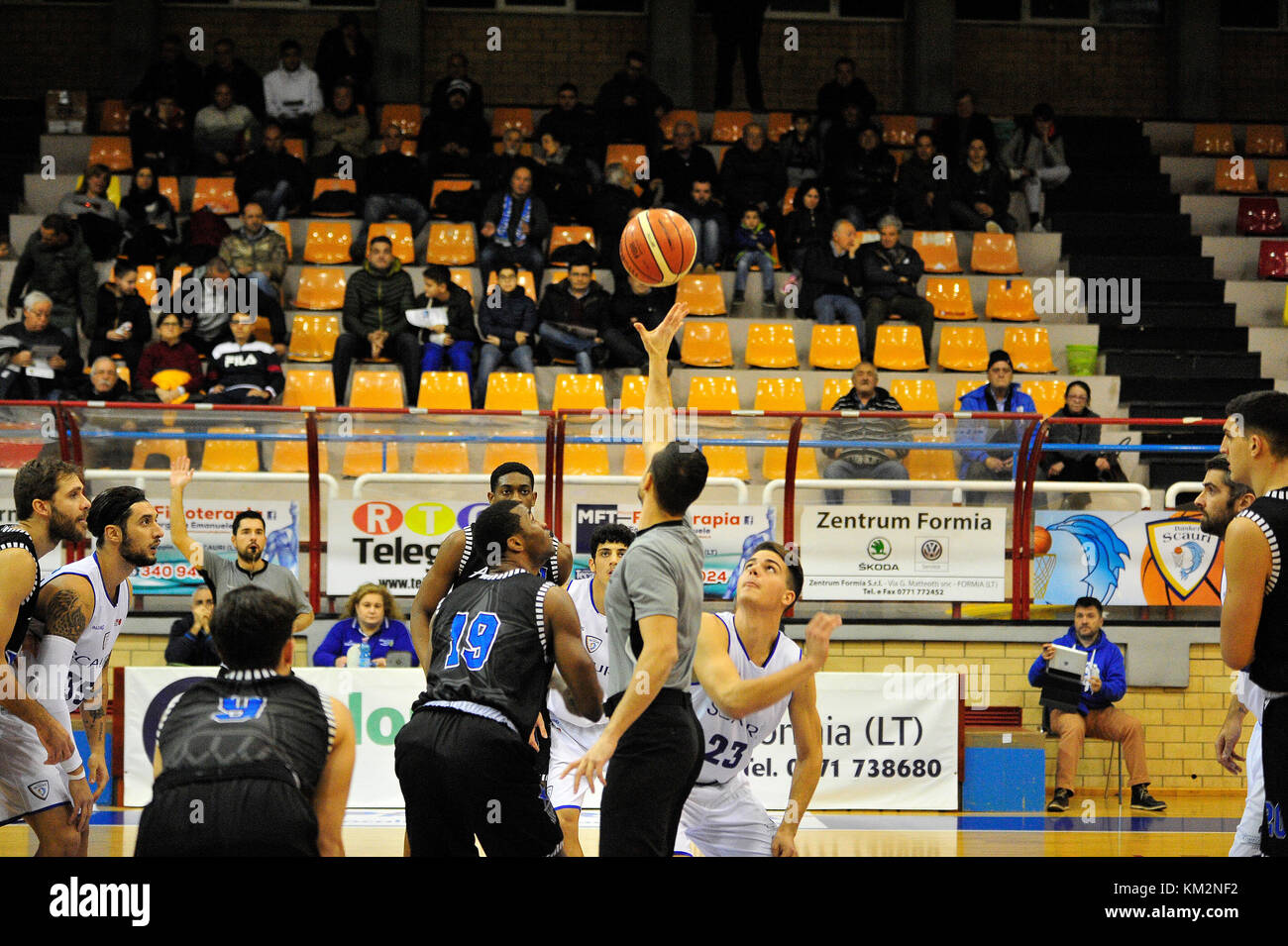 Minturno, Italy. December 3, 2017. Basketball game Basket Scauri against Basket Stella Azzurra Roma, Italian National Stock Photo