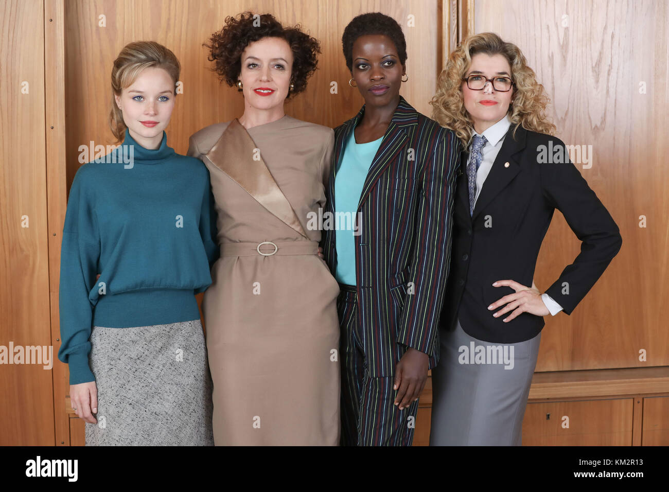 Berlin, Germany. 04th Dec, 2017. Actresses Sonja Gerhardt (left to right), Maria Schrader, Florence Kasumba and - Stock Image