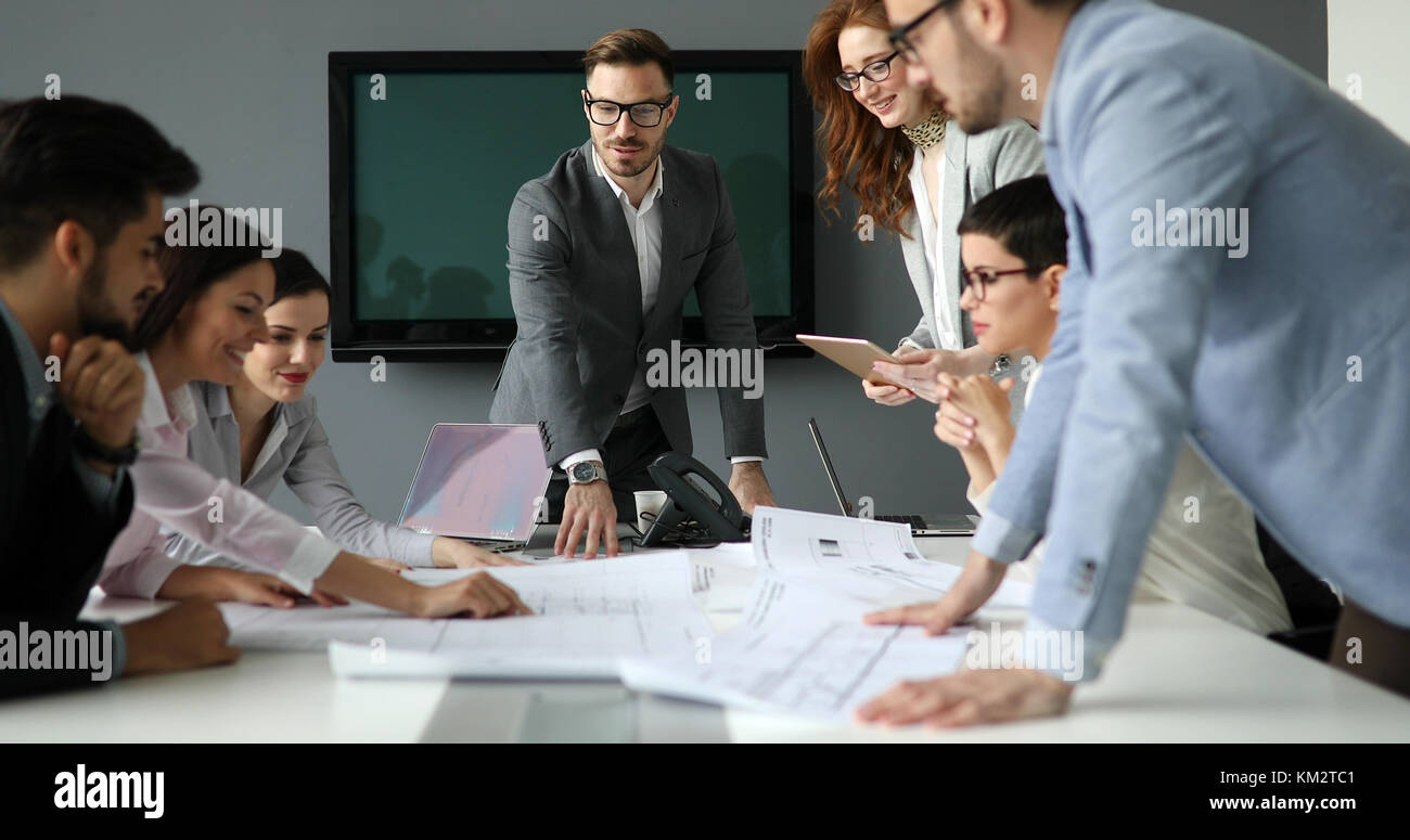 Picture of business seminar in conference room - Stock Image
