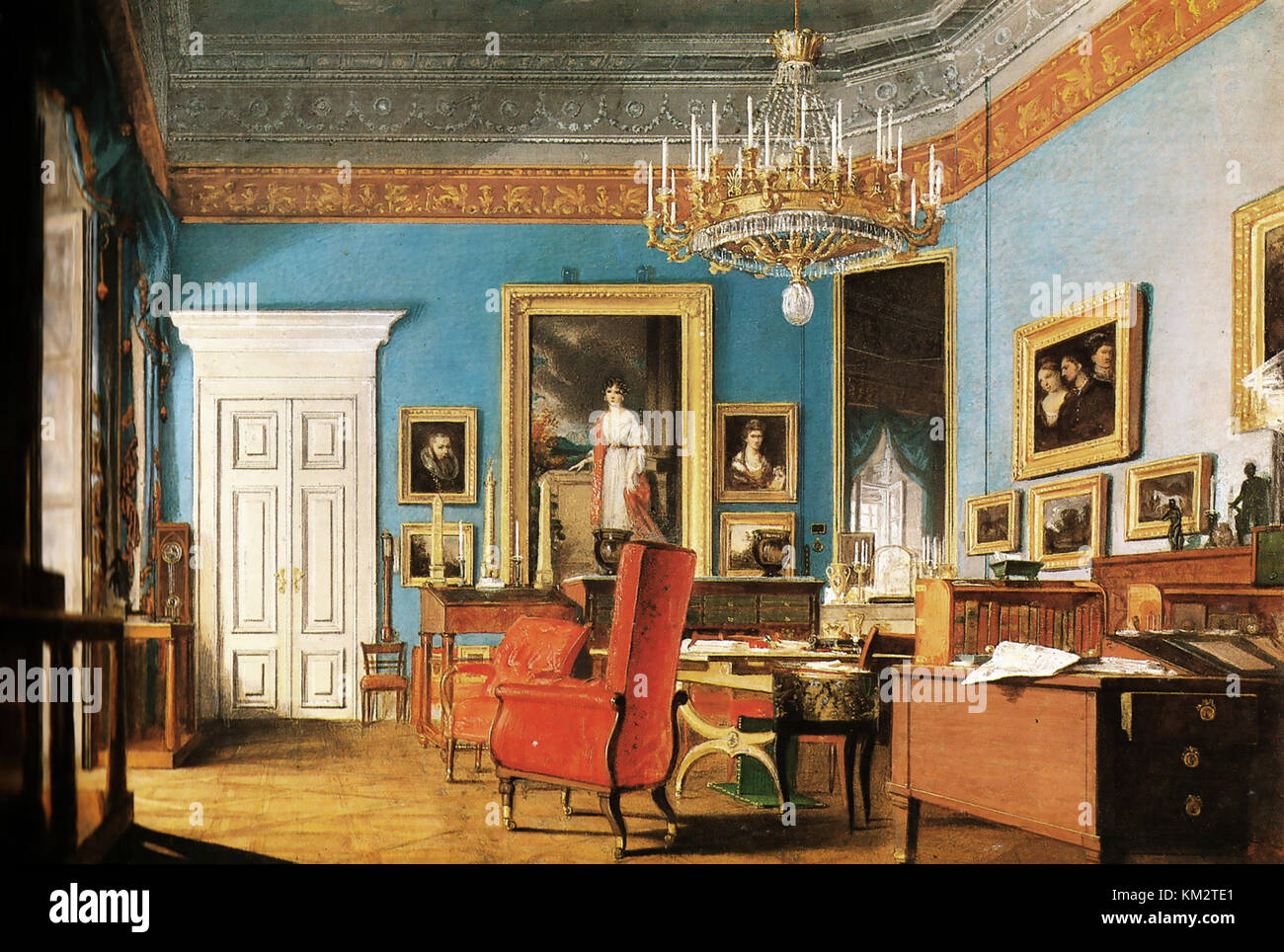 PRINCE KLEMENS von METTERNICH (1773-1859) German diplomat and statesman. His office while Chancellor of the Austrian - Stock Image