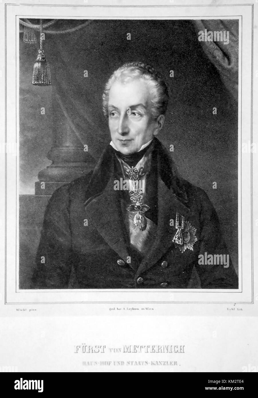 PRINCE KLEMENS von METTERNICH (1773-1859) German diplomat and statesman - Stock Image