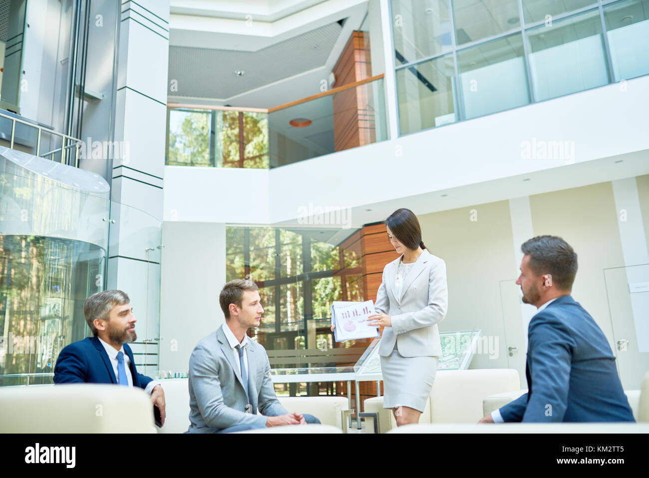 Business Presentation in Modern Office - Stock Image
