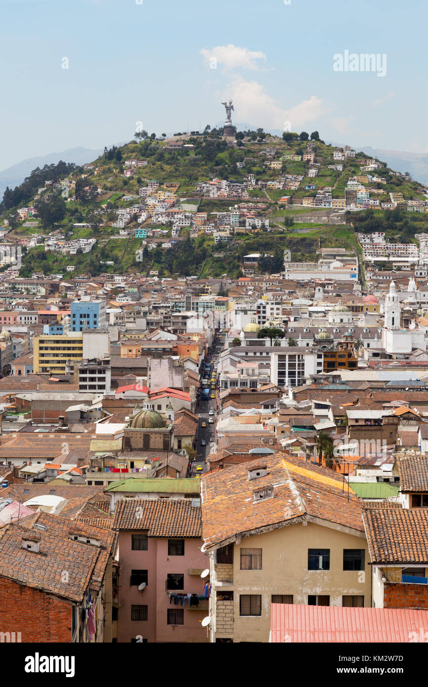 Panecillo Hill, Quito Ecuador South America - Stock Image