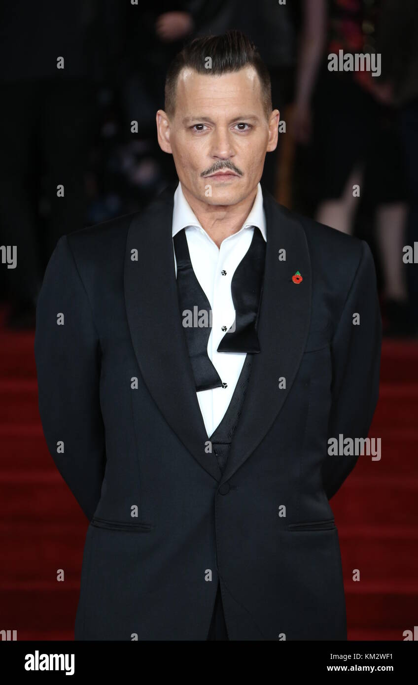 'Murder on the Orient Express' World Premiere - Arrivals  Featuring: Johnny Depp Where: London, United Kingdom - Stock Image
