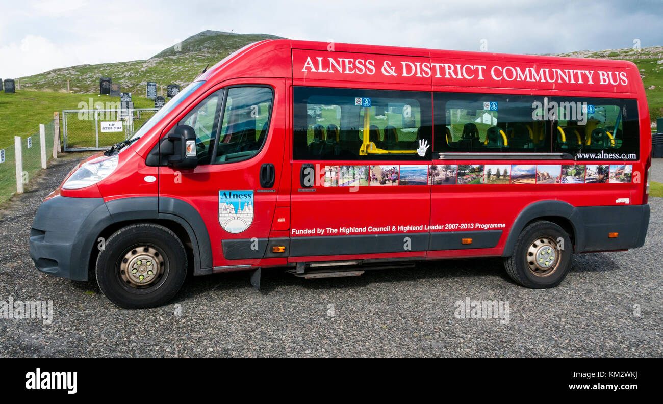 Alness & District Community Bus - Stock Image