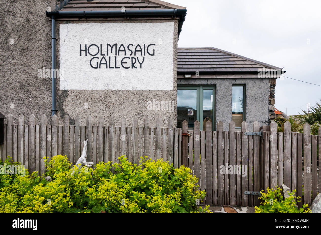 Holmasaig Gallery at Quidinish on Isle of Harris, Outer Hebrides - Stock Image