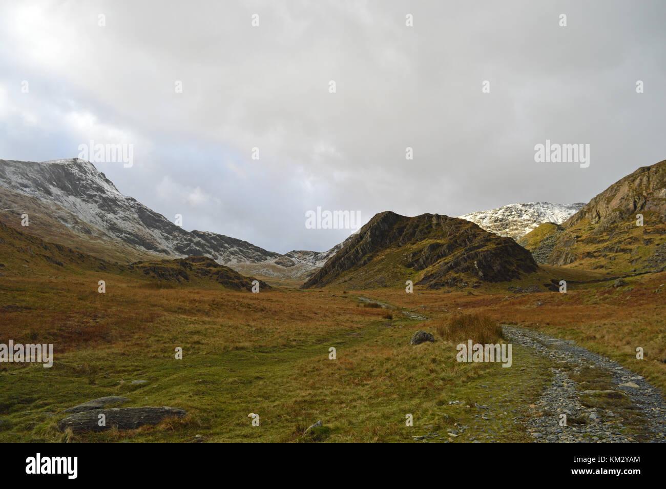 Watkin Path Snowdonia Stock Photo
