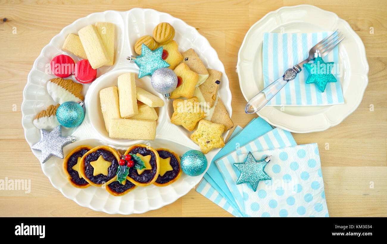 Festive Collection Of English Style Traditional Christmas Holiday