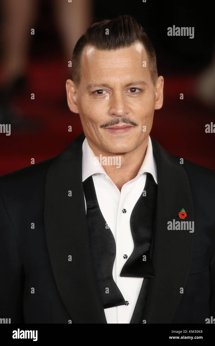 Murder on the Orient Express World Premiere held at the Royal Albert Hall - Arrivals  Featuring: Johnny Depp Where: - Stock Image