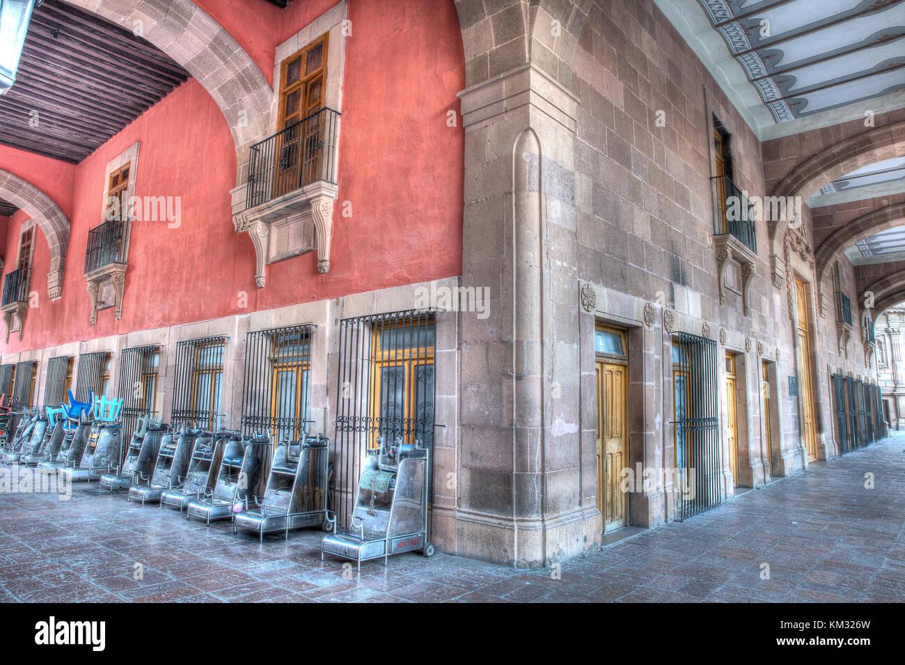 Streets of San Luis Potosi, Mexico - Stock Image