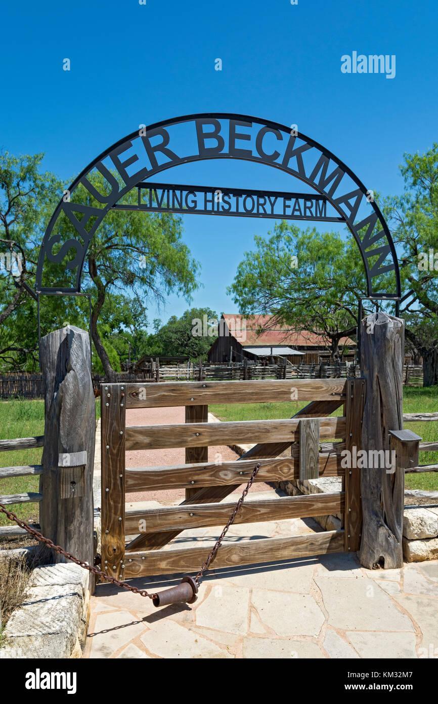 Texas, Stonewall, LBJ State Park and Historic Site, Sauer-Beckmann, Living History Farm, circa 1915-1918 - Stock Image
