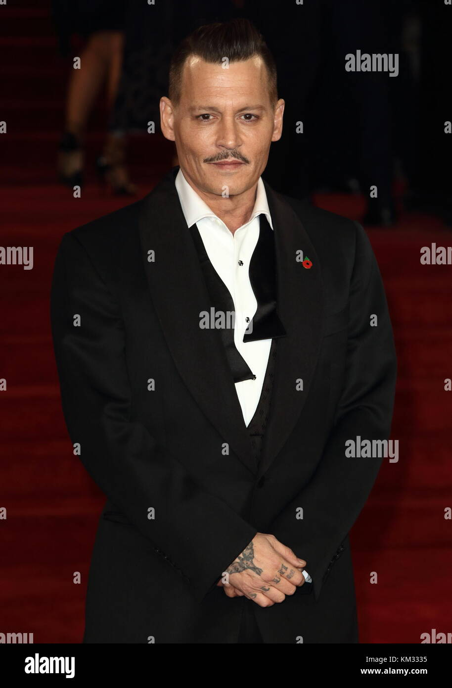 Murder on the Orient Express - World Premiere at the Royal Albert Hall, Kensington Gore, London  Featuring: Johnny - Stock Image