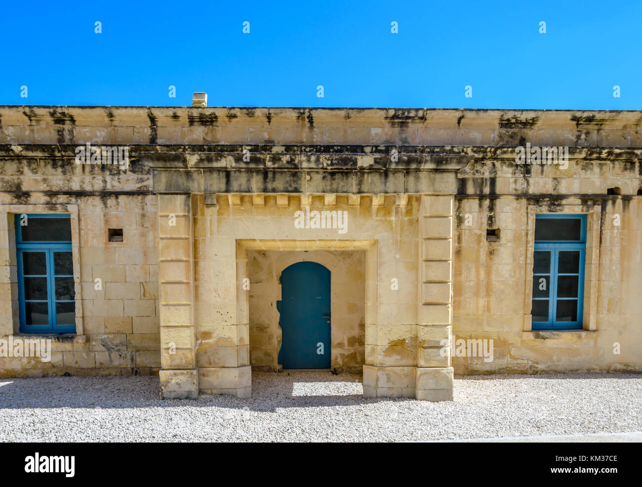 Barrack at Fort St Angelo - Stock Image