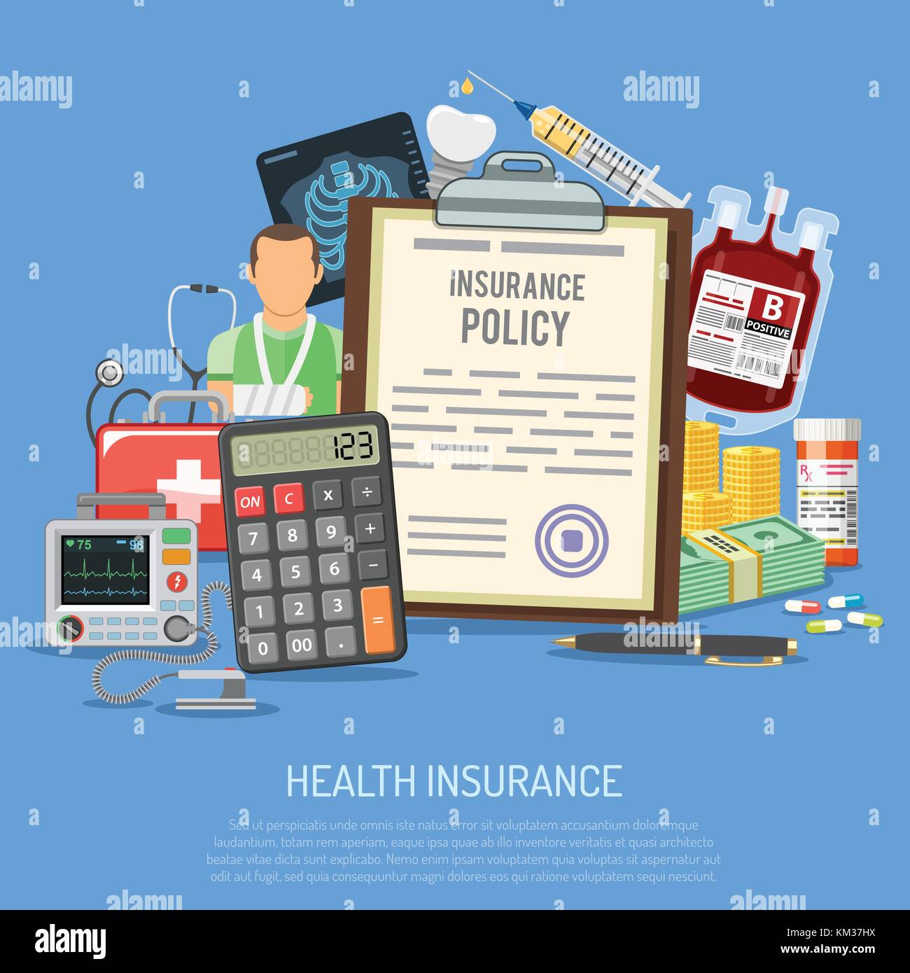 Health Insurance Services Concept - Stock Image