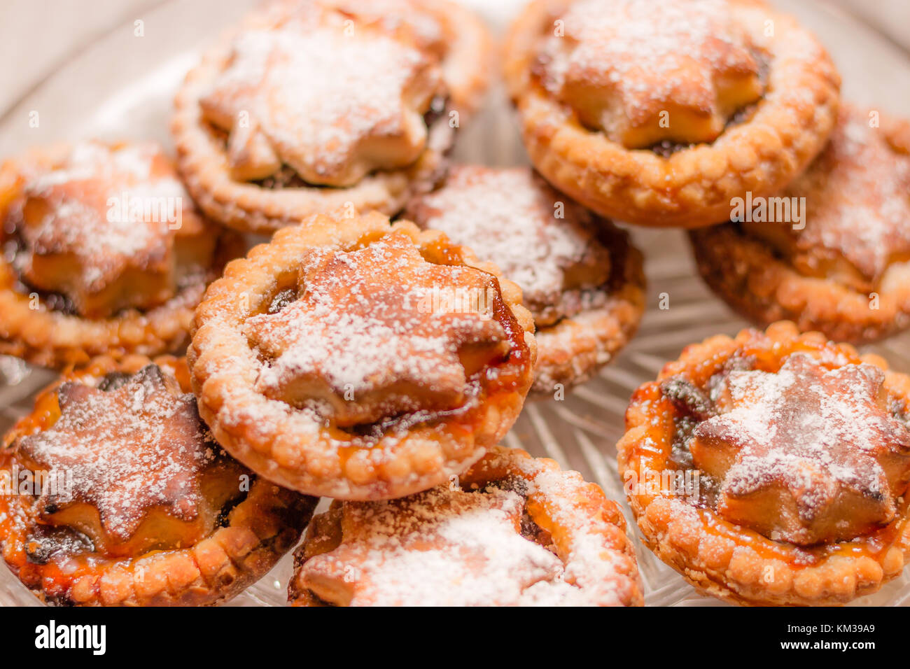 Home baked mince pies Stock Photo
