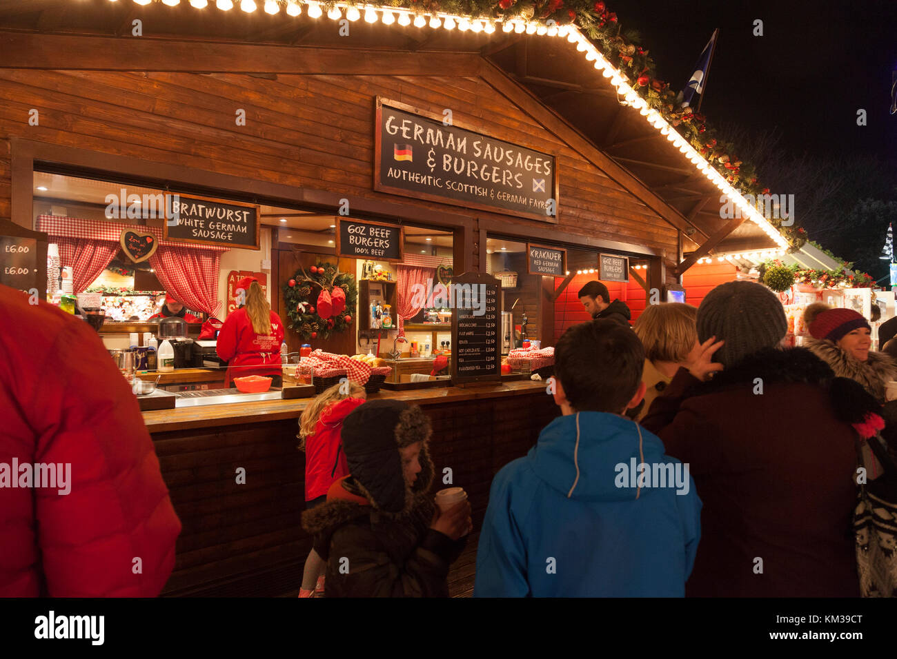 Edinburgh Christmas Market Food
