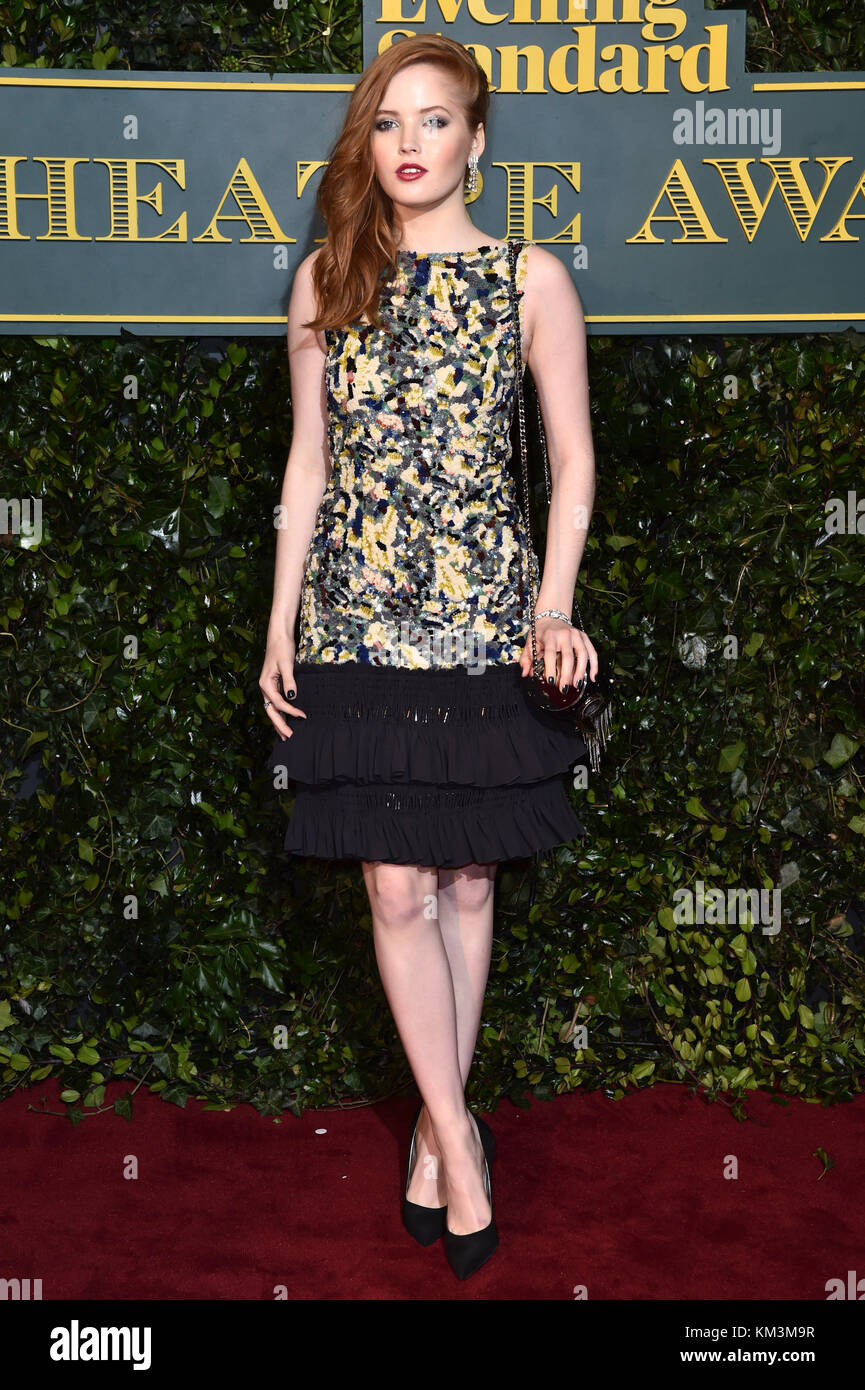 Ellie Bamber attending the Evening Standard Theatre Awards, at the Theatre Royal in London. PRESS ASSOCIATION Photo. - Stock Image