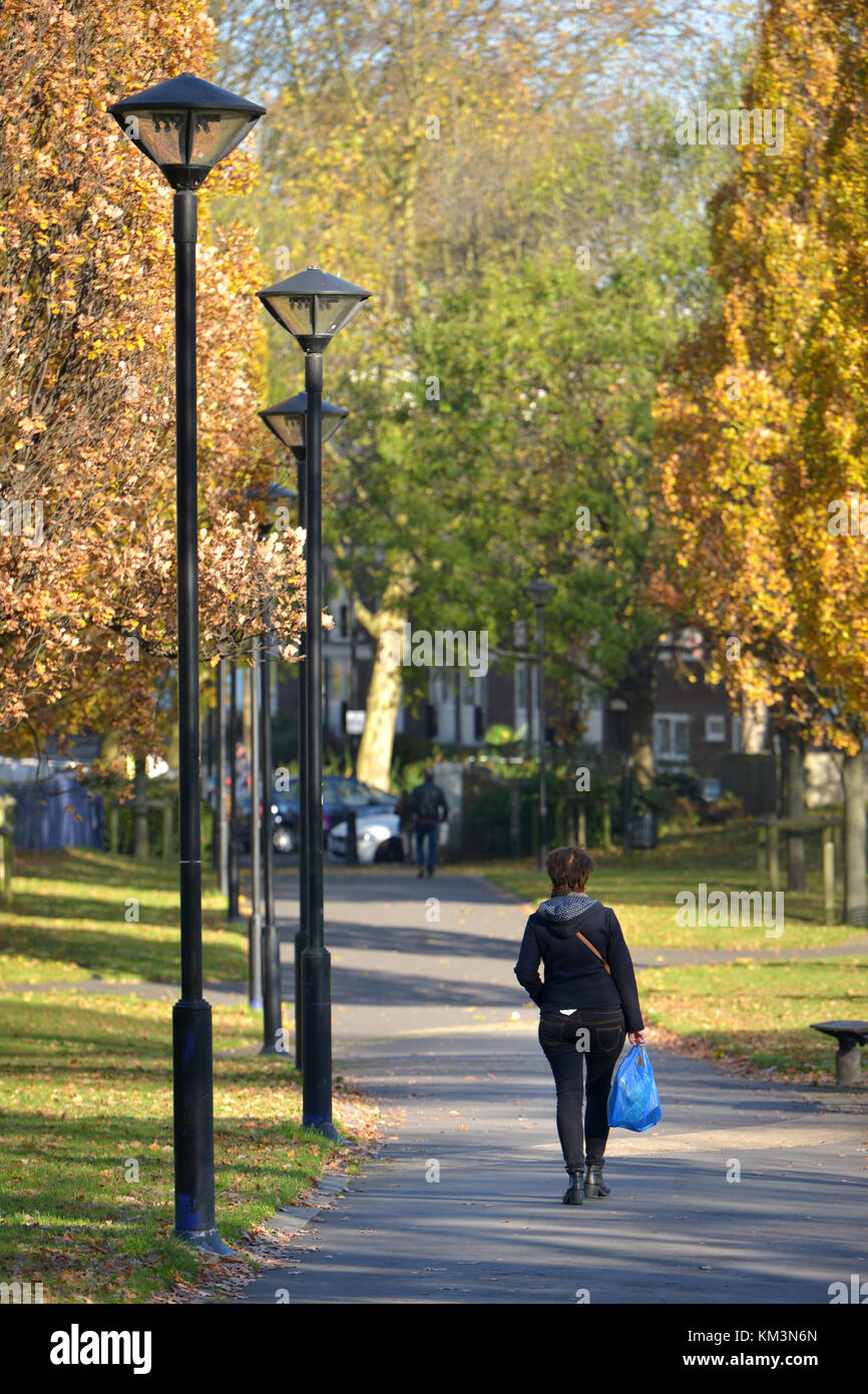 Westbourne Green open space, Westminster, London - Stock Image