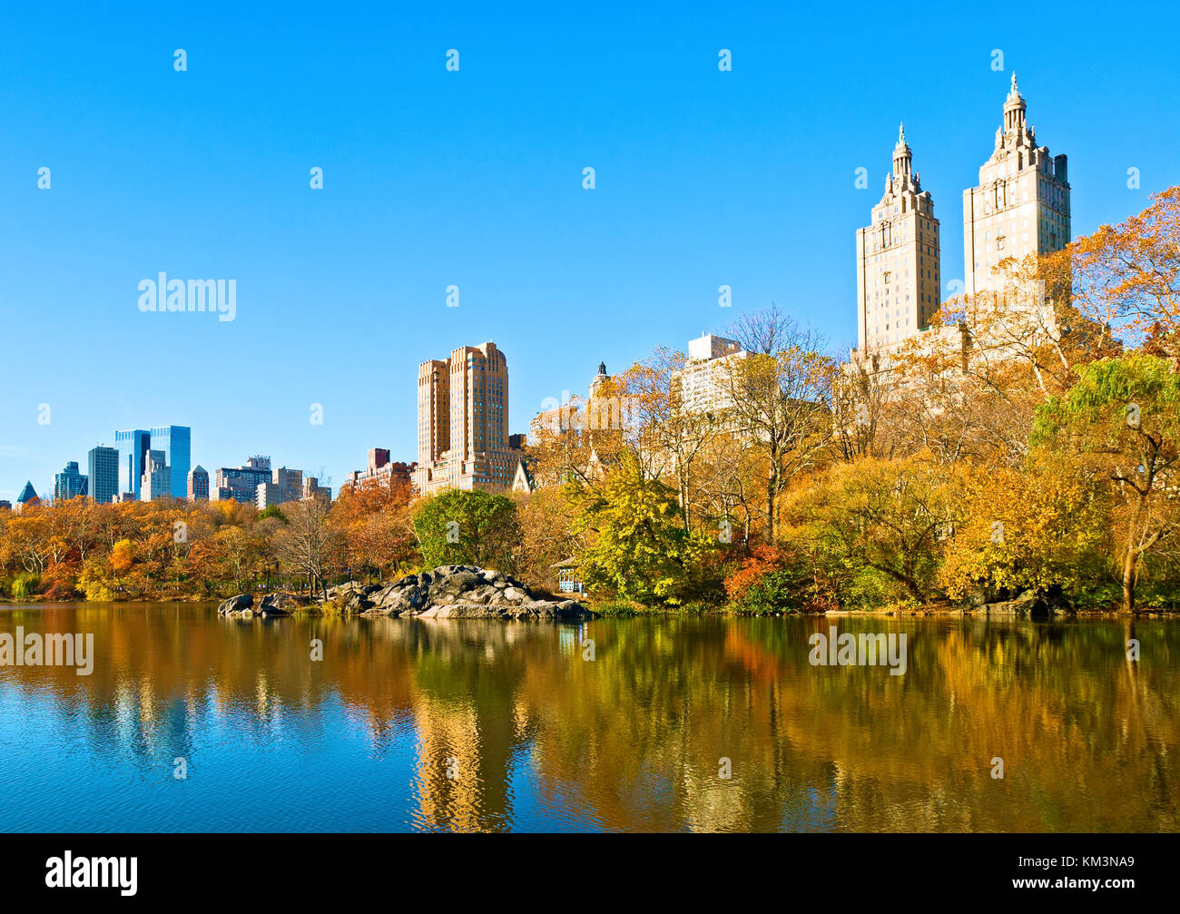 Central Park Autumn - Stock Image