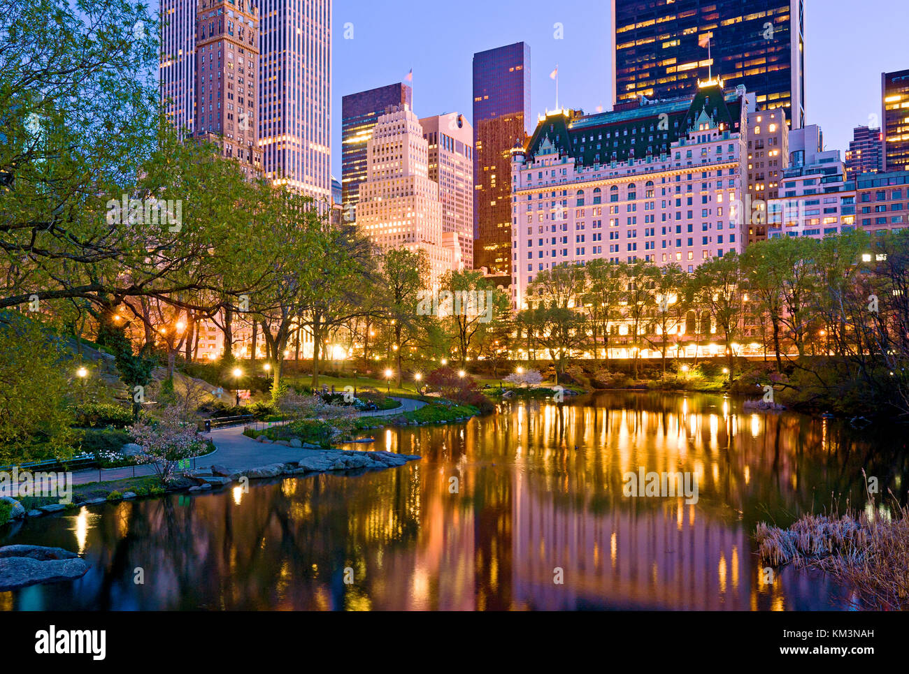 Plaza Hotel Central Park New York City Manhattan - Stock Image
