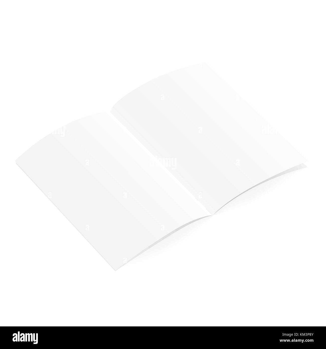 Blank Open Magazine Template On White Background Vector Stock