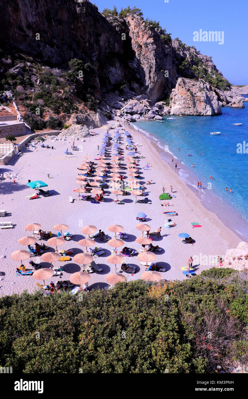 kyra panagia beach in karpathos Stock Photo