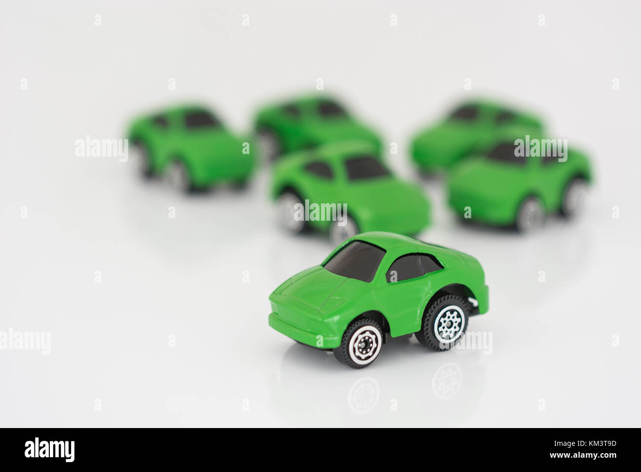 Toy cars - Metaphor for anything to do with motoring / automobiles / autos, Car Tax, green energy, low-emission Stock Photo