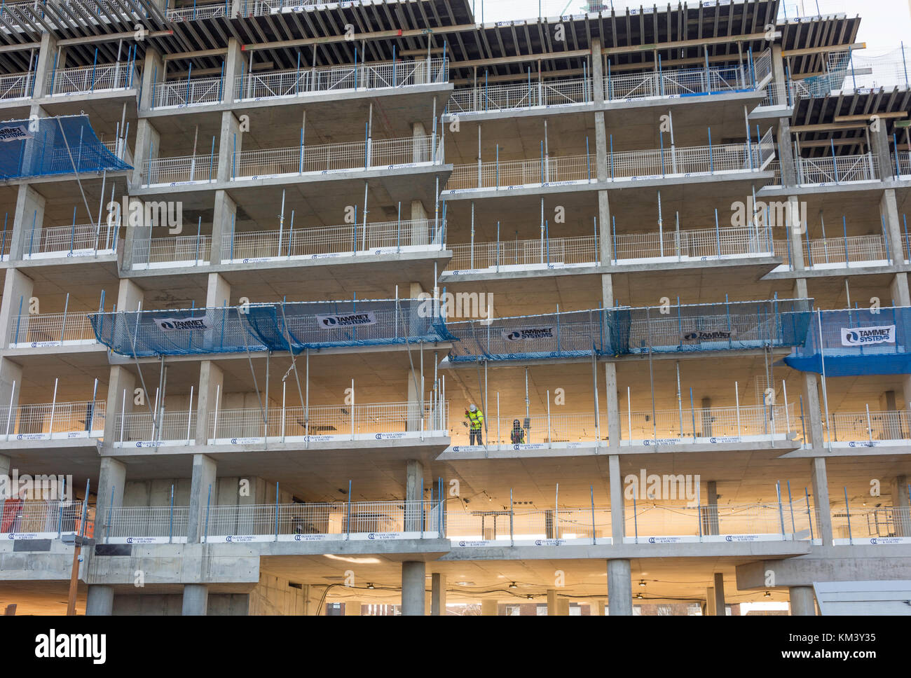 Building under construction, Bracknell, Berkshire, England, United Kingdom - Stock Image