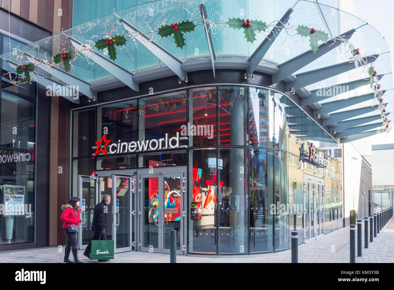 Cineworld Cinema, The Lexicon shopping centre, Eagle Lane, Bracknell, Berkshire, England, United Kingdom - Stock Image