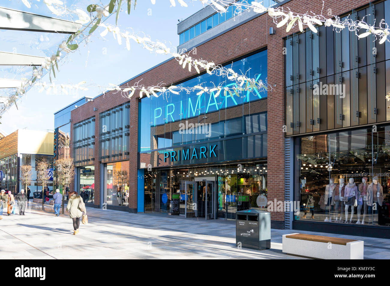 Primark store at Christmas, Union Square, The Lexicon, Bracknell, Berkshire, England, United Kingdom - Stock Image