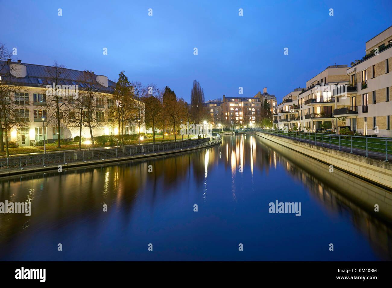 Berlin - Tegeler Hafen - Stock Image