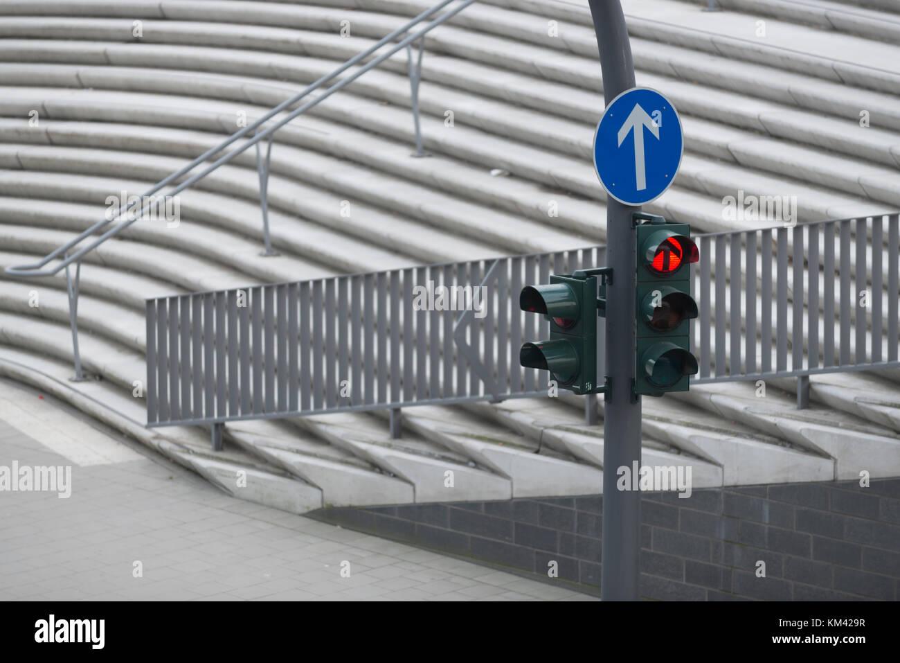 Ampel, Straßenverkehr - Stock Image