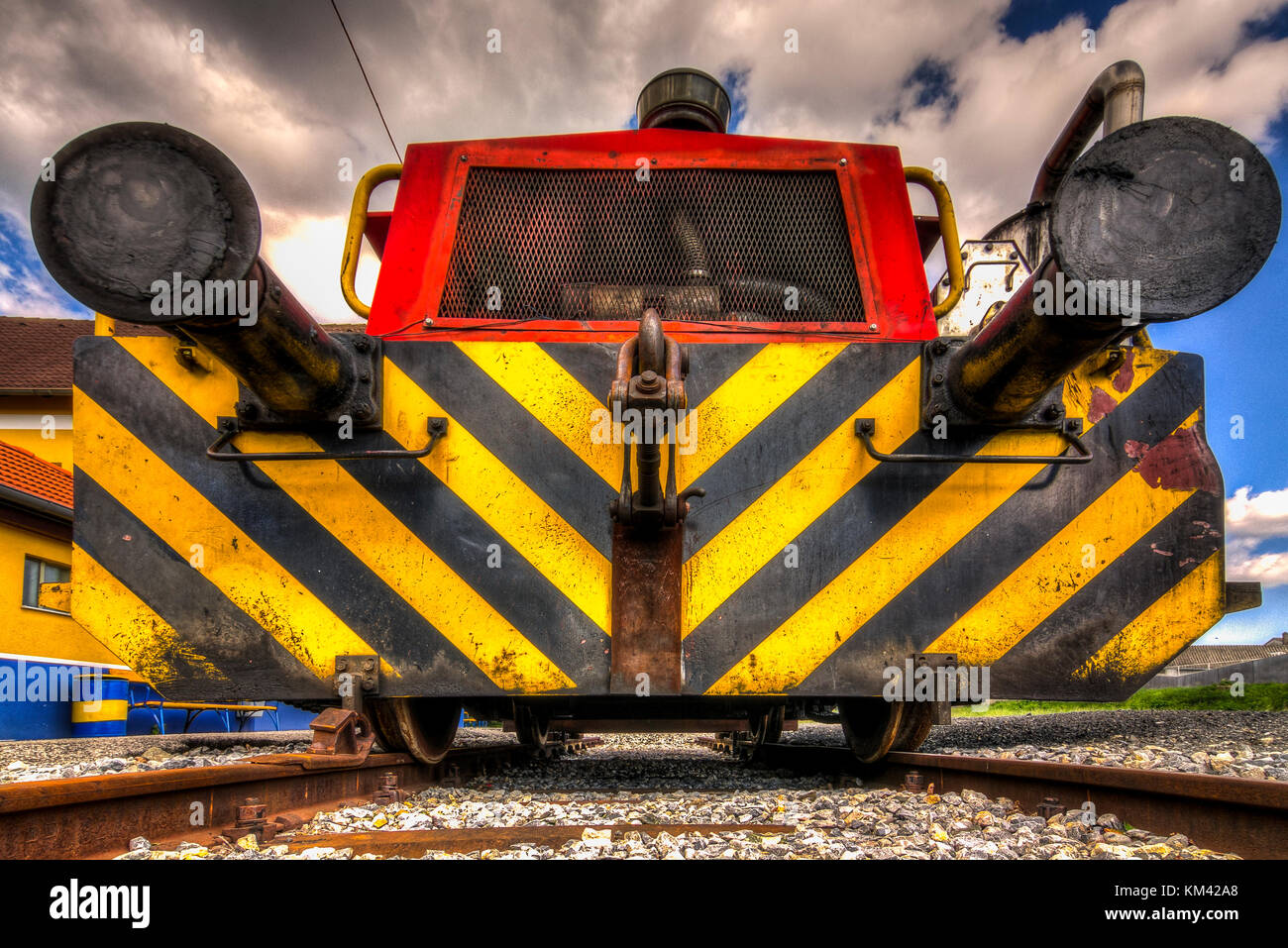 Loco front view in HDR - Stock Image