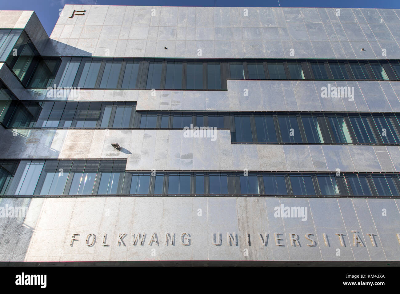 New building of the Folkwang University of the Arts, on the grounds of the Zeche Zollverein colliery in Essen, Germany - Stock Image
