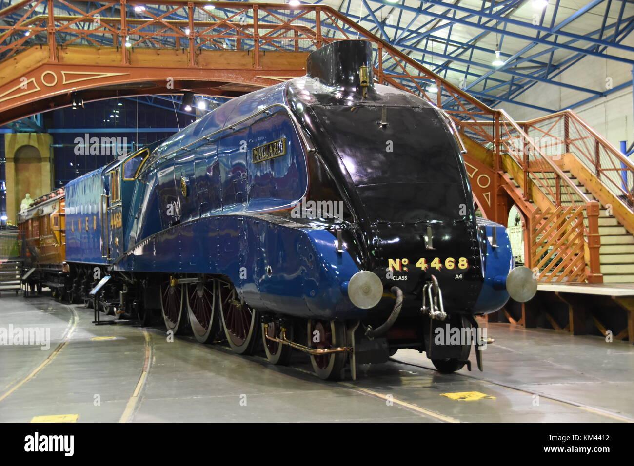 Mallard A4 Pacific Locomotive - Stock Image