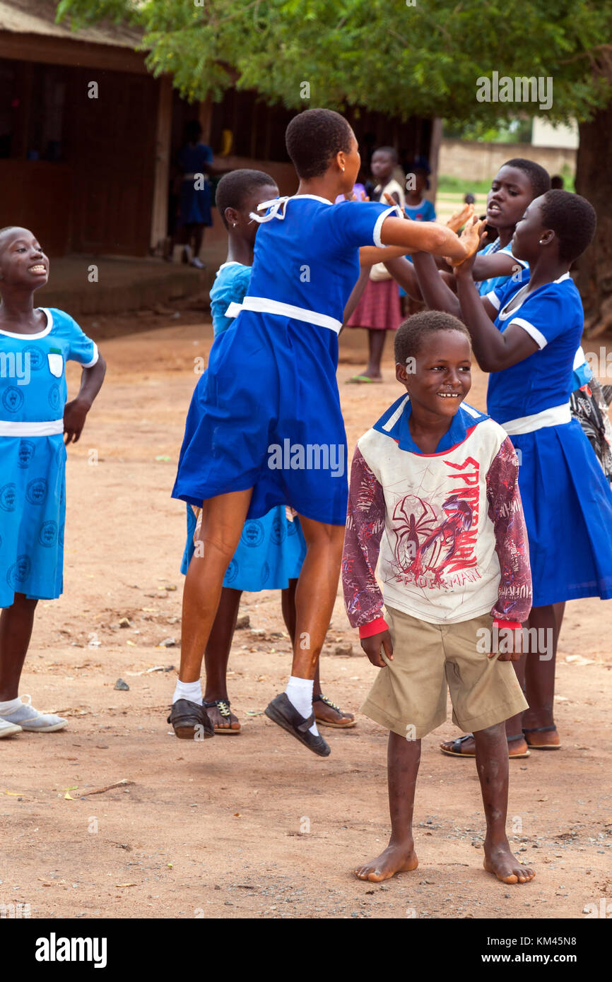 School children playing, Accra, Ghana, Africa - Stock Image
