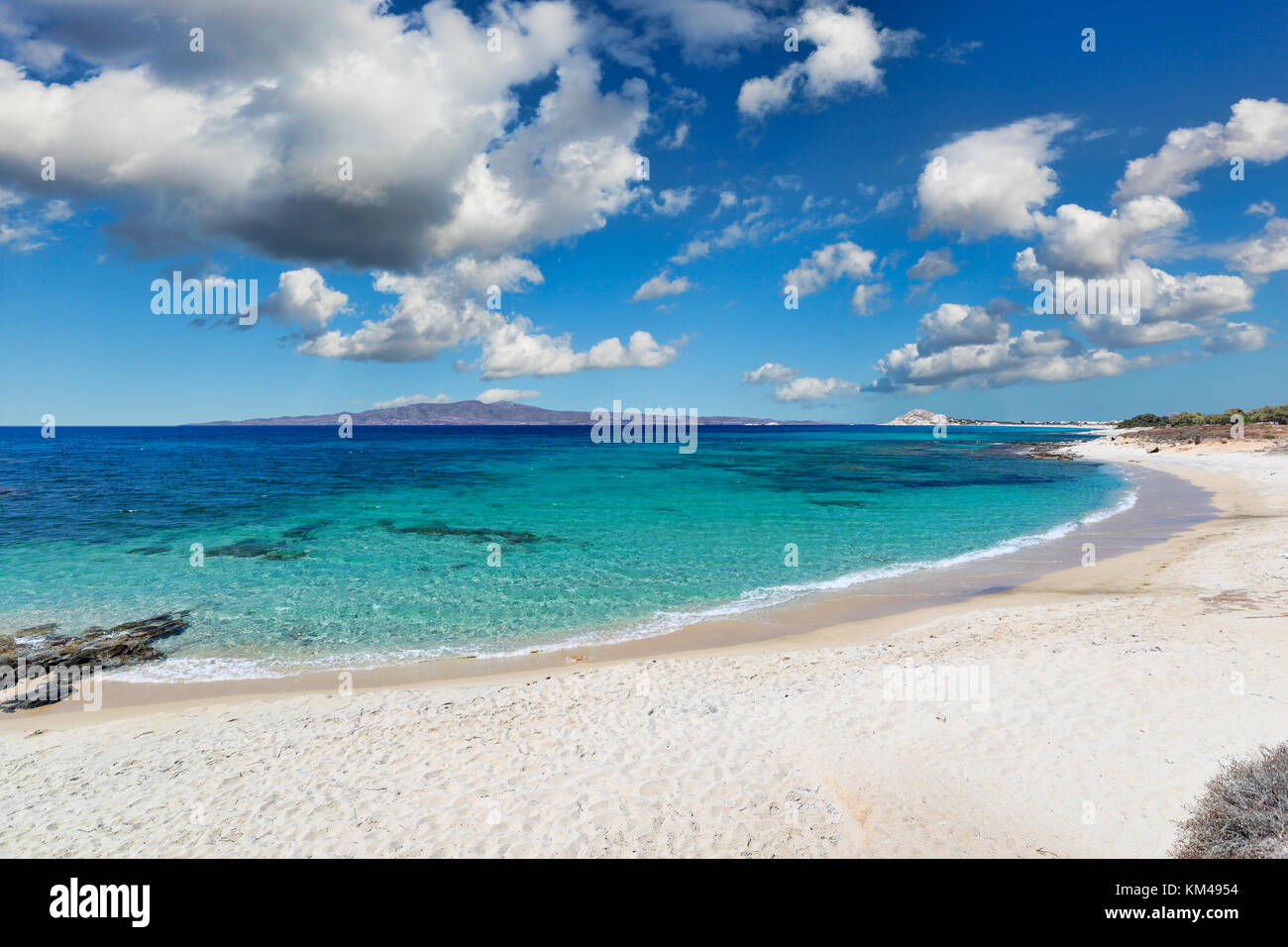 Kastraki beach of Naxos island in Cyclades, Greece - Stock Image