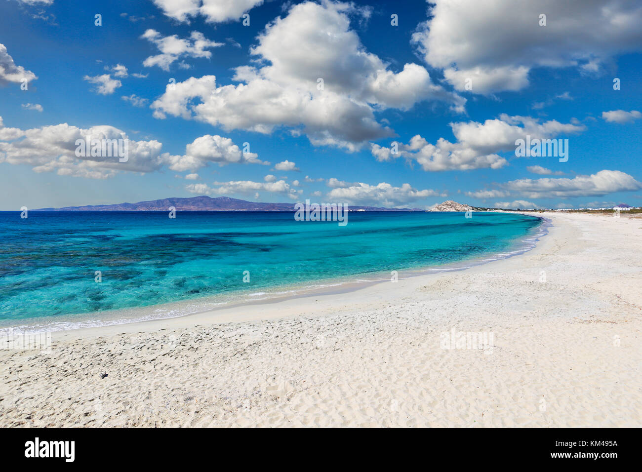 Sahara beach of Naxos island in Cyclades, Greece - Stock Image