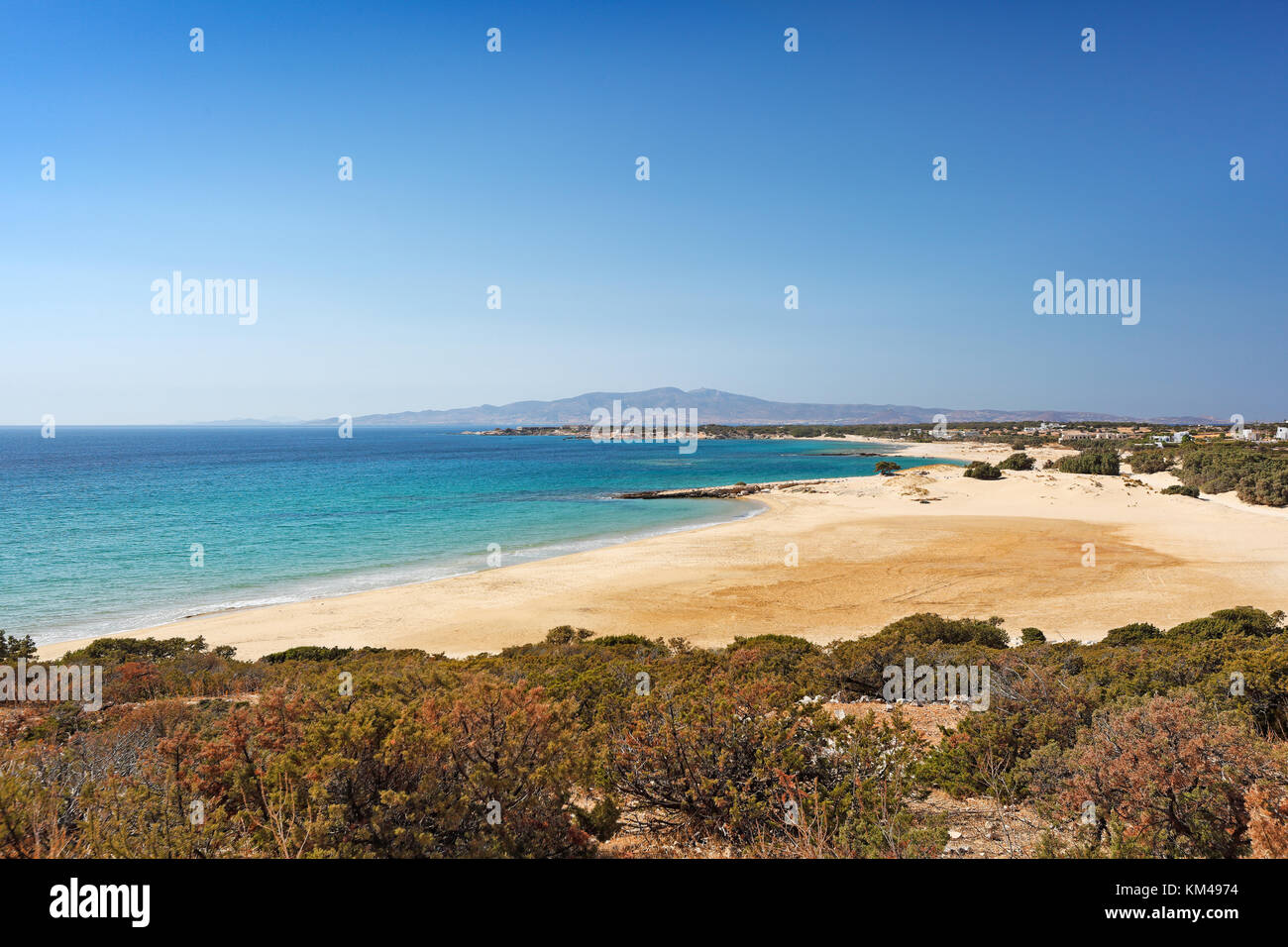 Pyrgaki beach in Naxos island, Greece - Stock Image